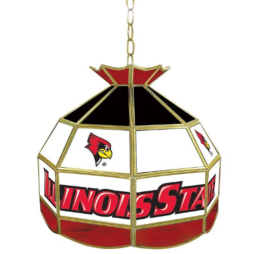 NCAA Illinois State 16-Inch Stained Glass Tiffany Lamp by Trademark Global