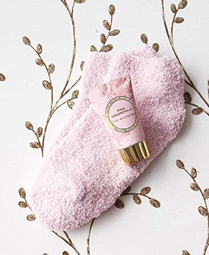Cozy Sock and Lotion Gift Box Sets (Pink Grapefruit)