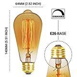6-Pack Edison Light Bulb, Antique Vintage Style