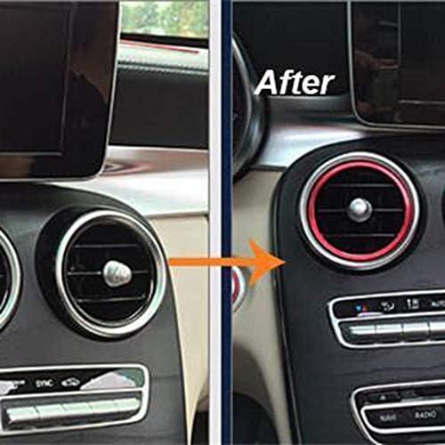 Gaetooely 7Pc Auto Styling Ac Outlet Ring Dekoration Klimaanlage Bel/üftungs?ffnungen Ordnen Aufkleber Abdeckung f/ür Mercedes C Klasse W205 Glc 180 200 260 Rot