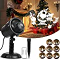 Christmas Projector Lights Decorative Lighting Waterproof Projector Lights LED Landscape Spotlight LED Lighting Projector with RF Remote Control for Outdoor Garden Patio Wall Holiday Xmas Party