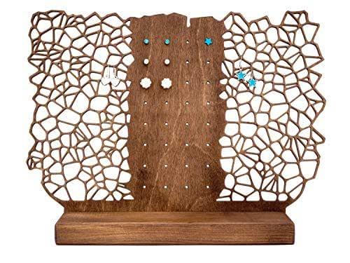 Exhibición de almacenamiento de aretes - Estante de organización de joyas para la mesa o estantes