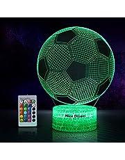 Nice Dream 3D fotboll nattlampa för pojkar