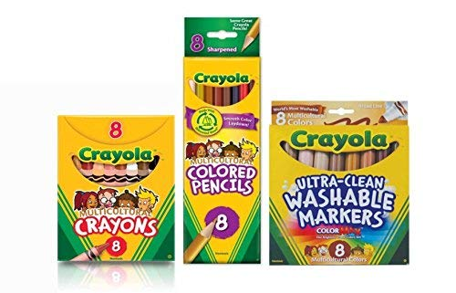 Multicultural Markers, Crayons and Pencils - Crayons Multicultural