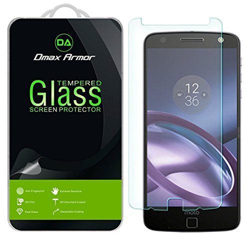 [3-Pack] Dmax Armor for Motorola Moto Z/Moto Z Droid Screen Protector, [Tempered Glass] 0.3mm 9H Hardness, Anti-Scratch, Anti-Fingerprint, Bubble Free, Ultra-Clear