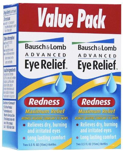 Bausch & Lomb avancée Dégagement oculaire Redness Relief maximale Drops-1 oz, Twin Pack
