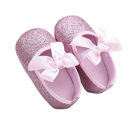 ACMEDE Babyschuhe Taufschuhe weiche Sohle Schuhe für Baby Mädchen Rosa 11cm Rosa