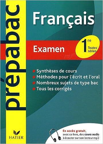 Livres Français 1re Toutes séries : Examen epub, pdf