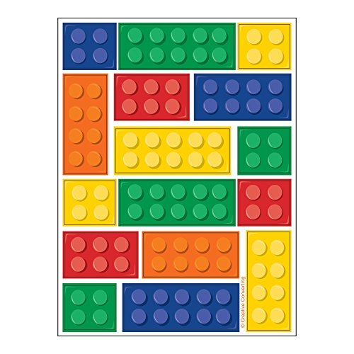 Creative Converting Block Party Stickers (4 Count)