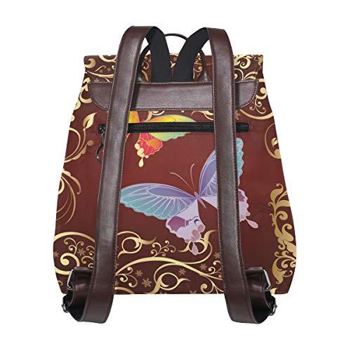 De Única Mochila Dragonswordlinsu Piel Multicolor Mujer Bolso Para Talla q8qHWEwB