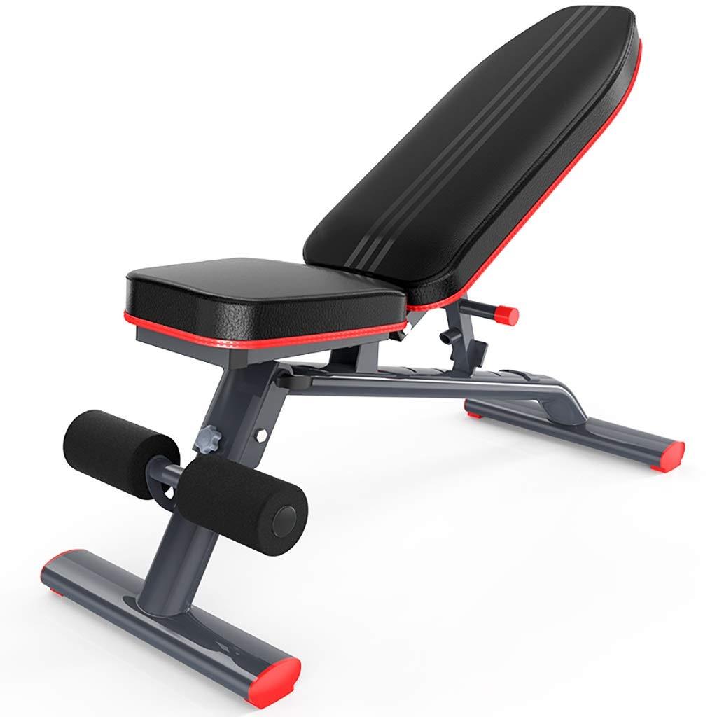 調節可能な折り畳み式の実用性の重量のベンチ調節可能なABの傾斜ベンチの体育館装置、足延長およびカールが付いている家の多機能の適性/試しのベンチ   B07Q37DRQ6