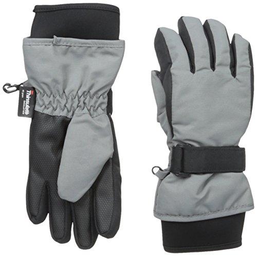 Nolan Gloves Big Boys' Sn'Owen Neoprene Cuff Ski Glove, Grey, Large/X-Large (Gray Ski Glove)