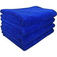 SOFTSPUN Microfiber Cleaning Cloth, Detailing & Polishing Cloth - 40X60 Cms - 4 Pcs (Blue)