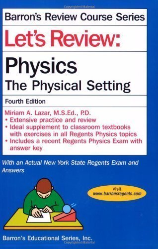 Let's Review Physics 5th (fifth) Edition by Lazar, Miriam [2012]