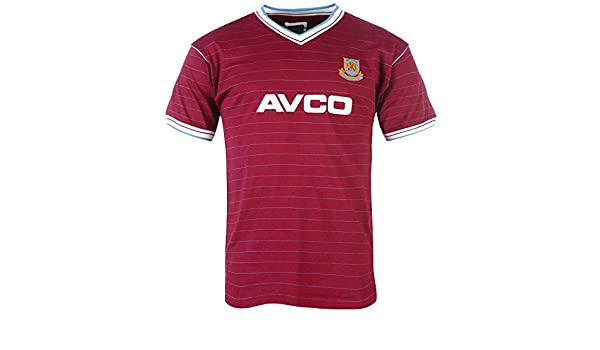 cb844ae681d Amazon.com: West Ham United Fc Official Soccer Gift Mens 1986 1983 Retro  Kit Shirt Claret: Clothing