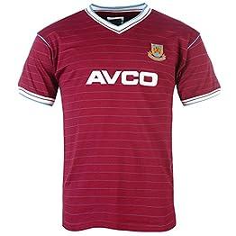 West Ham United FC officiel - T-shirt thème football - homme - style rétro/année 1986 - couleurs domicile