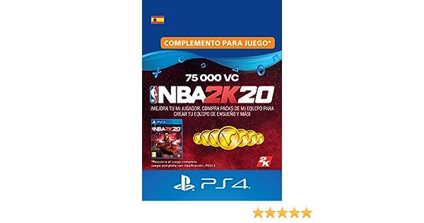 NBA 2K20 - 75,000 VC [Código de descarga PSN - Cuenta española]: Amazon.es: Videojuegos