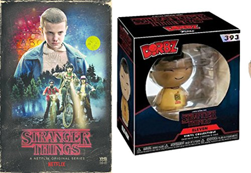 Stranger Things Exclusive Funko Dorbz Eleven #393 VHS Set Season 1 DVD Blu-Ray 4 Disc Box Special Edition 2-Pack Combo Bundle