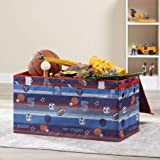 Make Cleanup of Toys Fun and Easy for Kids with Lightweight,Durable and Adorable Mainstays Kids Collapsible Soft Storage Toy Trunk,Sports