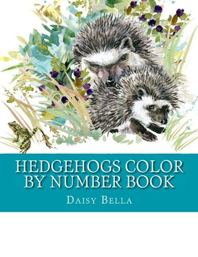 (Hedgehogs Color By Number Book: Large Print Coloring Book of Hedgehogs, Gardens, Landscapes, Flowers and More For Stress Relief (Adult Color By Number Books))