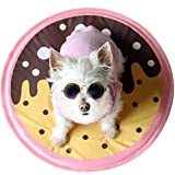 little dove Small Dogs Summer Mat Chill Sleeping Pad Non-Toxic Tiny Toy Size Dog Mat Floor Bed Car Sofa Etc Donut Style