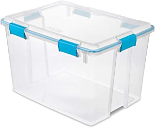 product image for Sterilite 80 Quart Plastic Home Storage Gasket Box Container, Clear (8 Pack)