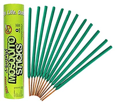 Murphy's Mosquito Sticks All Natural Insect Repellent Incense Sticks - Bamboo Infused with Citronella, Lemongrass & Rosemary - 12 Per Tube