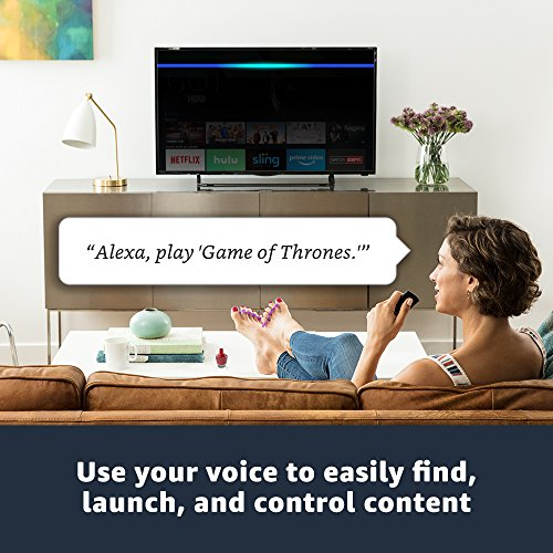 Fire TV with 4K Ultra HD and Alexa Voice Remote (Pendant Design)   Streaming Media Player