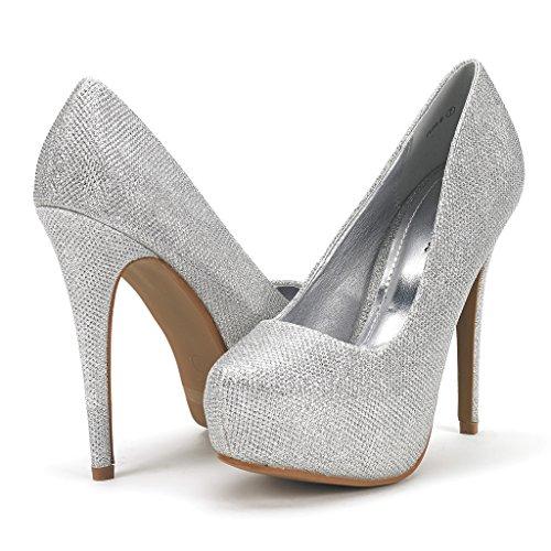 DREAM PAIRS ELSA-B Women's Elegant Closed Toe Platform Pumps Professional Women Stiletto Heel (Heel 0.75