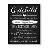Godchild Gift Quote Chalkboard Inspired Print - Godparent for New Baby Boy/Girl - Baptism Keepsake for Godson/Goddaughter