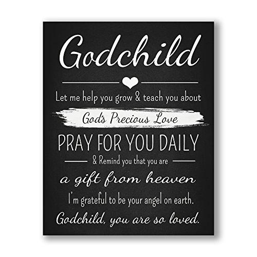 - Godchild Gift Quote Chalkboard Inspired Print - Godparent for New Baby Boy/Girl - Baptism Keepsake for Godson/Goddaughter
