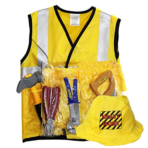 CosHouse Child Costumes Set Police Fire Fighter Construction Worker Clothes, (Coshouse Costumes)
