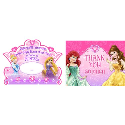 Disney Princess Dream Party Invitations &Thank-You Postcards (8 each) by Hallmark for $<!--$2.82-->