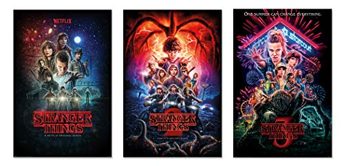 Stranger Things Seasons 1, 2 & 3 - TV Show Poster Set (3 Regular Style Posters - Version 2) (Size: 24 x 36 inches Each)