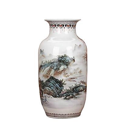 Amazon.com: SXBISHENG Landscape Ceramic, European Large vase ... on zipper hat, zipper mask, zipper bracelet, zipper wall, zipper painting, zipper car, zipper doll,