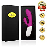 Hymar Heated G-Spot and Clitoris Silicone Vibrator - 35 Mode (5 speed & 7 frequencies) & Waterproof