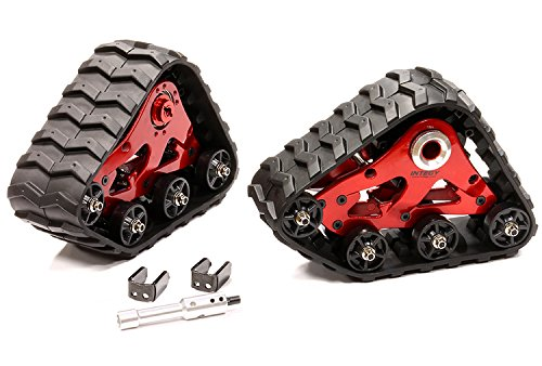 Integy RC Model Hop-ups T8633RED Rear Snowmobile & Sandmobile Conversion for Traxxas 1/10 Stampede 4X4, Slash 4X4