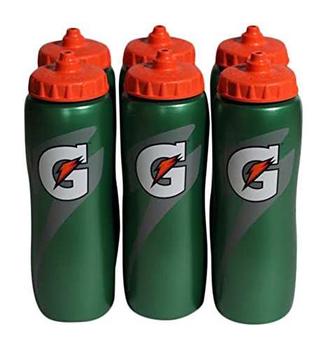 Gatorade 32 Oz Squeeze Water Sports Bottle – Value Pack of 6 – New Easy Grip Design for 2014