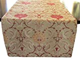 Corona Decor Maxine Extra-Wide Italian Woven Table Runner, 95 by 26-Inch