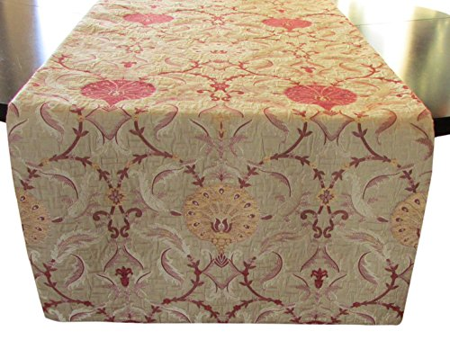 Corona Decor Maxine Extra-Wide Italian Woven Table Runner, 95 by 26-Inch by Corona Decor Co.