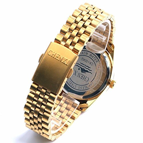 Amazon.com : Reloj, Relojes, Luxury, Watches, Full Steel, Top Brand, High Quality, Gold, Mens, Golden, Quartz, Clock, mens, mens Watches Top Brand Luxury, ...
