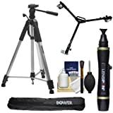 Bower VTSL7200 72'' Digital Photo/Video Camera Tripod Steady-Lift Series with Case with W3 Universal Dolly + Lenspen + Accessory Kit