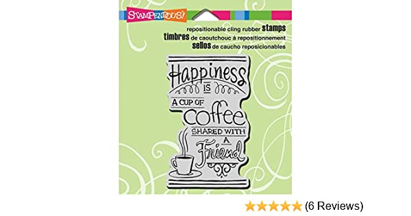 4 by 6-Inch Coffee Big Stampendous Cling Rubber Stamp