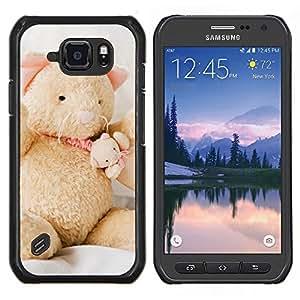 Caucho caso de Shell duro de la cubierta de accesorios de protección BY RAYDREAMMM - Samsung Galaxy S6Active Active G890A - Naturaleza Rosa Bruma