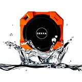 DEKKA Armor Portable Wireless Outdoor Bluetooth Speaker IPX5 Waterproof Shower FM Radio, HD Audio and Super Bass, Built-in Mic for Hands Free Calling (Orange)