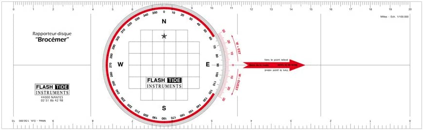 Flash-Tide – Regla transportador de navegación brocémer: Amazon.es: Deportes y aire libre