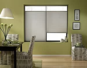 Cordless Top Down Bottom Up Cellular Honeycomb Shades, 31W x 36H, Cool Silver, Any Size 19-72 Wide