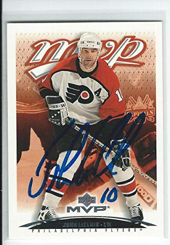 (John LeClair Signed 2003/04 MVP Card #313 - Upper Deck Certified - Hockey Slabbed Autographed Cards)