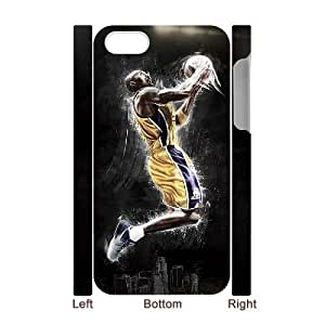 wugdiy Custom Hard Plastic Back 3D Case Cover for iPhone 4,4S with Unique Design Kobe Bryant BY shenglong