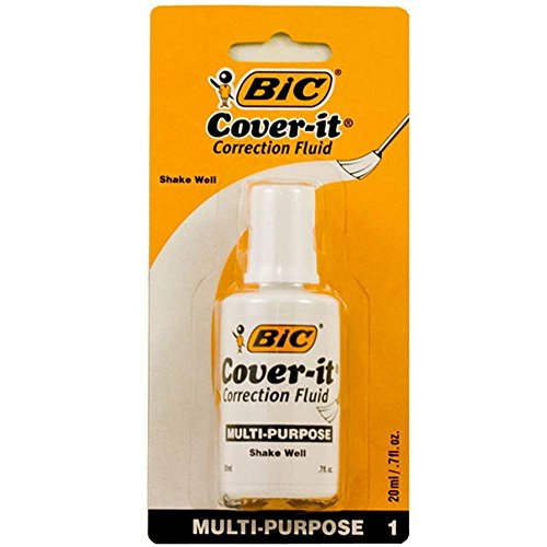 1 X BIC 20ml / 0.7 fl. oz. Wite-Out Cover It Correction ()
